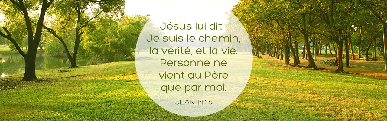 Jésus lui dit : Je suis le chemin, la vérité et la vie. Personne ne vient au Père que par moi.